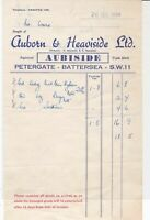 Auborn & Heaviside Ltd 1954 Petergate Battersea S.W.11  Receipt Ref 35247