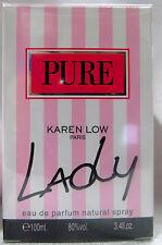 KAREN LOW PURE LADY PARIS 3.4 OZ / 100 ML EAU DE PARFUME NIB WOMEN SPRAY