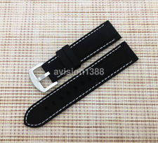New Sport 20mm-24mm Men Rubber Waterproof Silicone Watch Band Strap Wrist UK