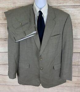 Jos. A Bank Men's Wool / Cotton taupe flat front 2 piece suit size 48L 40x31