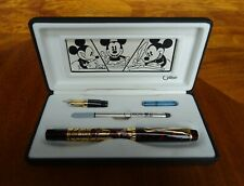 Rare New Colibri Disney Scribe Writing Instrument -Mickey Maroon/Gold - 3 ways