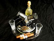 HARLEY-DAVIDSON INTAKE MANIFOLD DERBY COVER SHOT GLASS BAR SET - MAN CAVE