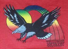 Vintage RARE 1983 Telluride Colorado LGBT Rights rainbow bald eagle xl shirt euc