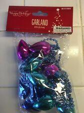 Christmas Bulbs And Bead Acrylic/plastic Garland. 8'.