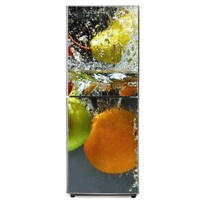 3D Door Fridge Wrap Cover HD Refrigerator Sticker PVC Door Wardrobe Decor Decals