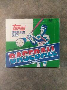 1987 TOPPS BASEBALL CELLO BOX 24 FACTORY SEALED PACKS ORIGINAL OWNER