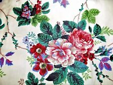 Lot of 2 WAVERLY  Cottage Roses Floral Window Valance 16 X 78 Green
