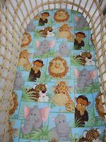 Bassinet Fitted Sheet Jungle Babies 100% Cotton FITS STANDARD BASSINET