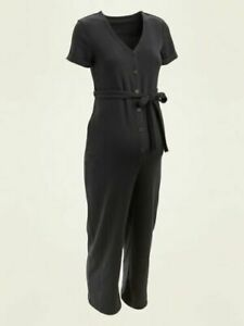 Old Navy Maternity French Terry Tie-Belt Jumpsuit Size S- Gray- NWT