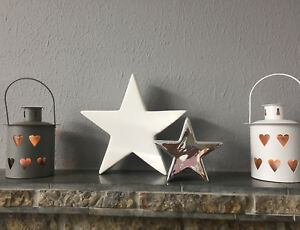 Lovely Chic Contemporary Ceramic Star and Tree Ornaments 2 Sizes And Colours