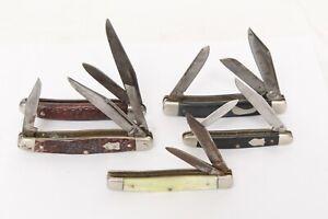 Antique Lot 5 Vintage Folding Knives Western Whittler Schrade 786 Frontier