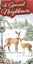 Special NEIGHBOURS Quality CHRISTMAS Card Deer Design
