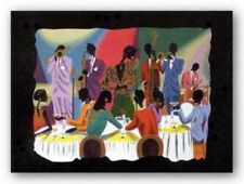 Cotton Club Serigraph Leroy Campbell African American Art Print 29x36
