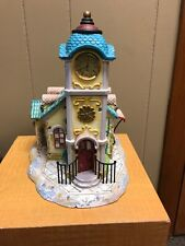 Partylite Olde World Village #4 Clock Tower Tealight House Used