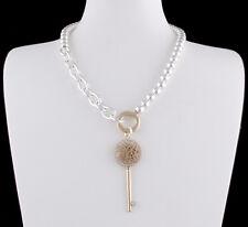 Halskette Gliederkette Ankerkette Perlenkette STRASS Kristall Gold Sweet Deluxe