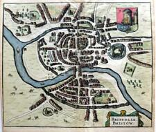 BRISTOL TOWN PLAN BRISTOLIA  c1661 BY HERMANNIDES GENUINE ANTIQUE  ENGRAVED MAP