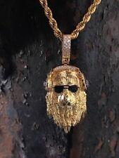 Mens Ice Out 1.6ct Diamond LION HEADPHONE Pendant