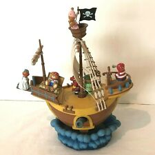 Enesco Music Box 1990 Lucy Rigg Pirate Ship Plays You Can Fly Tested Working