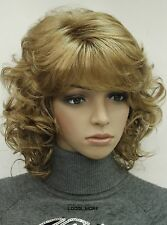 Light Strawberry Blonde Short Curly Women ladies Synthetic Fluffy Wig FTTLD209