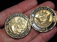 Shellback Crossing the Line Navy Ceremonial Challenge Coin US Navy Pollywog