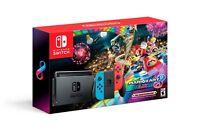 NEW Nintendo Switch 32GB Neon Blue Neon Red Mario Kart 8 Deluxe Console Bundle
