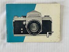 Miranda F, 35mm Camera Instructions