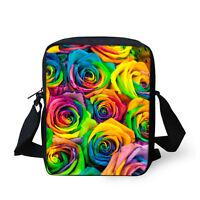 Colorful Rose Women Handbag Purse Shoulder Messenger Bag Small Crossbody Bags