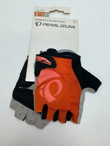 new Pearl Izumi WOMEN'S Select bicycle GLOVES Red/Orange LARGE