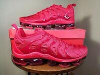 Nike Air VaporMax Plus Triple Red Running Shoes CW6973-600 Men's NEW