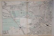 "LONDON - KENSAL GREEN AND NORTH KENSINGON BY G. BACON. 9"" SCALE.  1902"