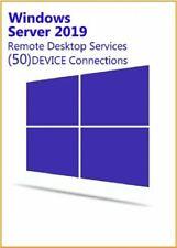 Windows Server 2019 50 DEVICE CAL RDS Remote Desktop Services Connections
