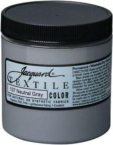 Jacquard Textile Color Fabric Paint 8oz-Neutral Grey