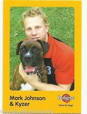 2005 AFL ESSENDON MARK JOHNSON AND KYZER AUSKICK PEDIGREE CARD