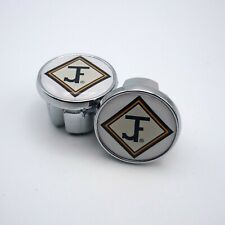 Vintage Style, JF Wilson, Chrome Racing Bar Plugs, Caps, Repro