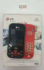 LG Tribe KS360 Chat Mobile red and grey + Scatola