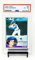 1983 Topps HOF Chicago Cubs RYNE SANDBERG Rookie Baseball Card PSA 6 EX-MINT