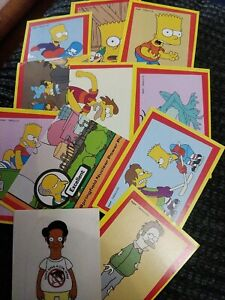 PANINI THE SIMPSONS MOVIE STICKERS COLLECTION ENGLISH X 11