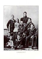 Kaiserliche Familie 1896 Fotoabb. von 1906 Kaiser Wilhelm II Kaiserin Auguste
