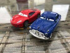 Disney Pixar Cars Ferrari F430 & Hudson Hornet Diecast 1:55 Playworn