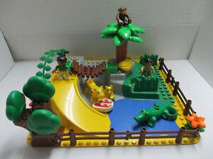 (HK 2 ) LEGO Duplo Zoo / Safari SET 3D Platte Tiere Krokodil Tiger Affe Figuren