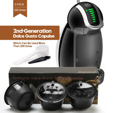 BRBHOM 3 Refillable Nescafe Dolce Gusto Coffee Capsules Pod Cup Foaming Filter