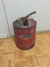 Vintage Galvanized Delphos Gas Can Great Red Paint