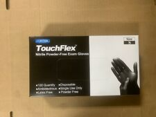 New One Box Of 100 Black Nitrile Powder Free Disposable Non-Sterile Small Gloves