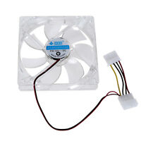 4 Pin Pc Computer Klar Fall Quad 4-led Licht 9-klinge Cpu Lüfter Fans