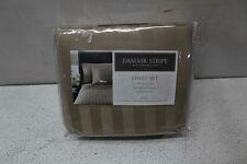 Charter Club Damask Stripe Full Sheet Set Taupe