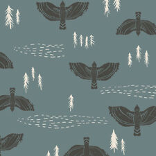 Wind Observer Slate KNIT Art Gallery Fabrics 152cm (w) x 25cm
