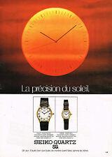 PUBLICITE ADVERTISING 114  1979  SEIKO QUARTZ PRECISION SOLEIL 2  montres