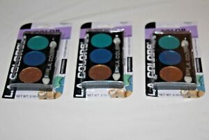 L.A. COLORS 3 Color Eyeshadow #CBES621 Lotus Lot Of 3 In Box