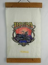 Vtg.1978 Honda CB 750Four Motorcycle T-Shirt Sample Printed on cloth wall hanger