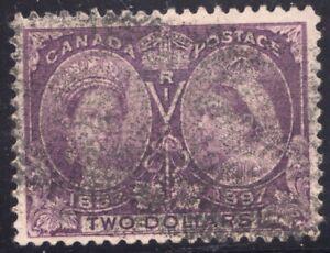 Sc #62 - Canada - $2 - 1897 Diamond Jubilee stamp - Superfleas - cv$800